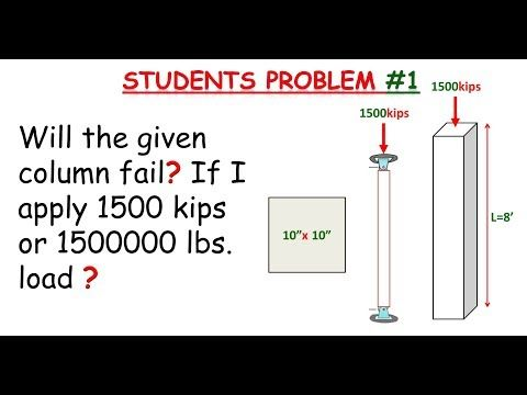 How to verify if the column can support the applied load or force - Best online Engineering resource!
