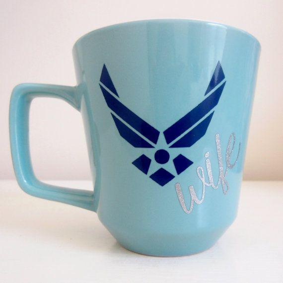 Air Force Wife Mug by KupsByKath on Etsy