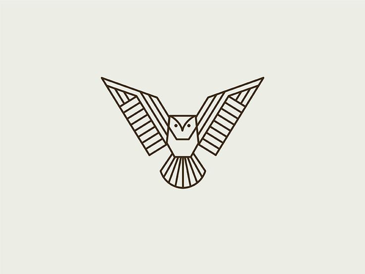 Geometric Owl by Kari Neuberger #Design Popular #Dribbble #shots
