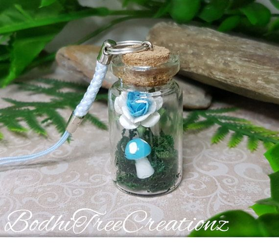 Hey, I found this really awesome Etsy listing at https://www.etsy.com/au/listing/474900266/blue-fairy-garden-miniature-bottle