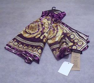 VERSACE 100% SILK SCARF : Purple/ Gold - Gift  for her - RRP £390  | eBay