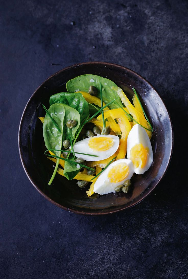 Boiled eggs & caper salad recipe from The Detox Kitchen Bible by Lily Simpson | Cooked.com