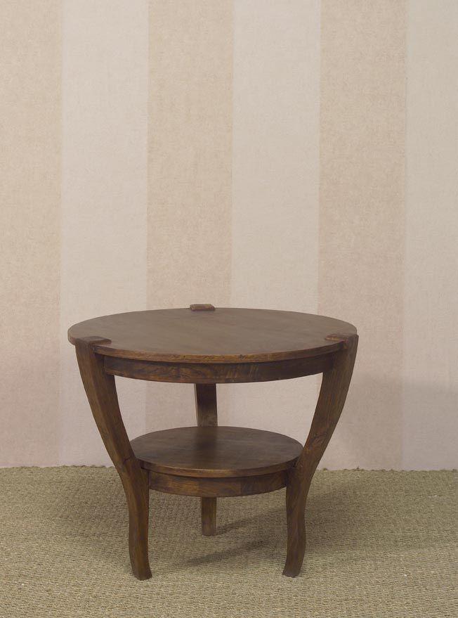 www.livinghome.nl info@livinghome.nl €127,- #tafel #tafeltje #rond #bijzettafel #koffietafel #bruin #hout #interieur