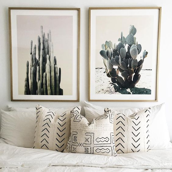 Cactus pics and patterend cushions