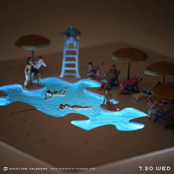 Miniature Calendar – Un artiste japonais imagine chaque jour une adorable scène miniature