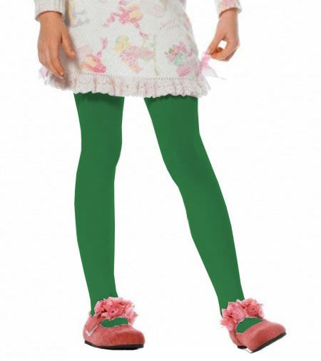 Girls Opaque Kelly Green Tights - Tights and Stockings