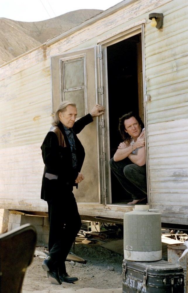 David Carradine as Bill and Michael Madsen as Budd in Kill Bill Vol. 2 (2004) by Quentin Tarantino.
