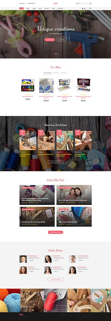 Hobbies & Crafts website inspirations at your coffee break! Browse for more Joomla #templates! // Regular price: $75 // Sources available: .PSD, .PHP #Hobbies #Crafts #Handmade #Joomla