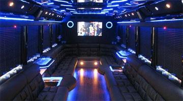 Interior of Dallas Texas Party Bus