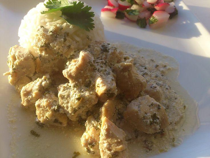 Afghaanse kip met yoghurt