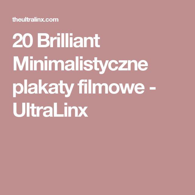 20 Brilliant Minimalistyczne plakaty filmowe - UltraLinx