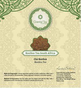 Oriental Tea - Chás Orientais - Oriental Tea Chá Rooibos Sul Africa 150 Grs // Lendas Sublimes - Produtos Gourmet