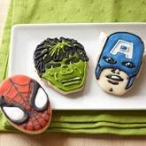 Idea for Elliott's party: Heroes Cookies, Marvel Comic, Comic Books, Captain America, Cookies Cutters, Super Heroes, Cookie Cutters, Superhero Cookies, Marvel Heroes