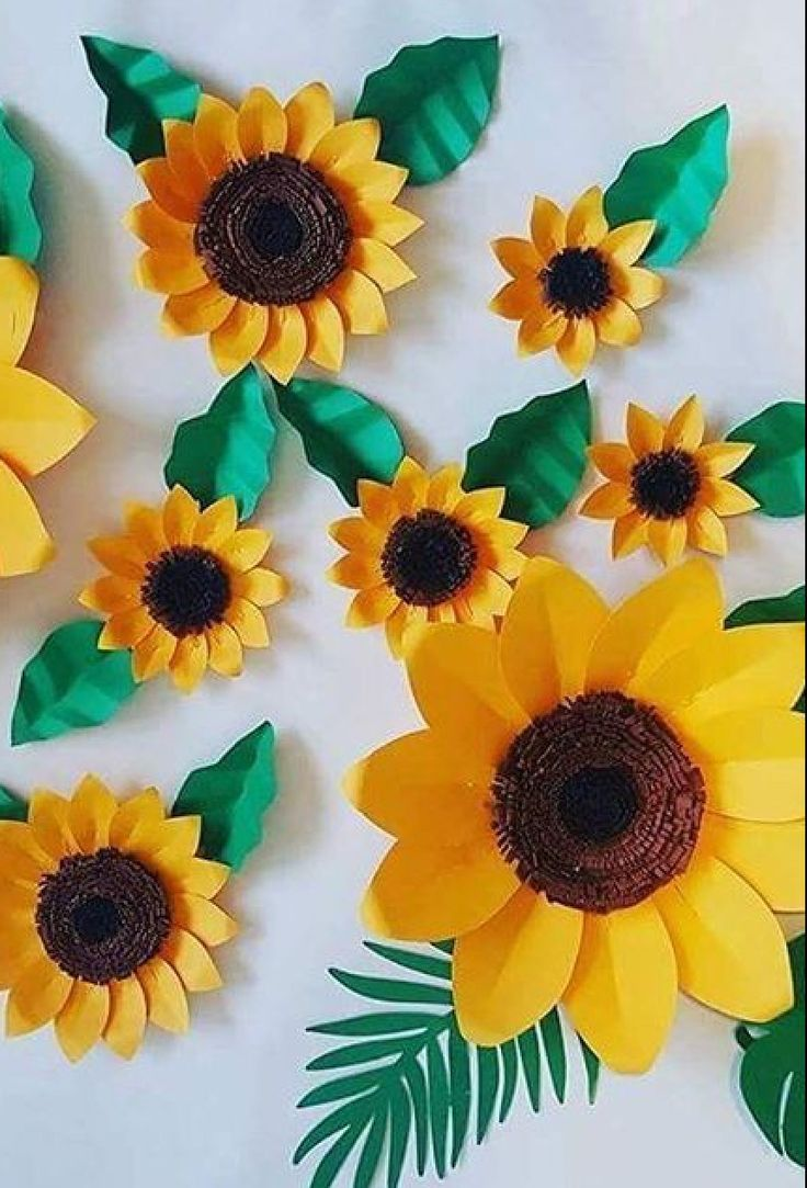 sunflower paper flower template