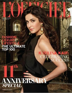 Katrina Kaif on the Cover of L'Officiel Magazine - April 2013.