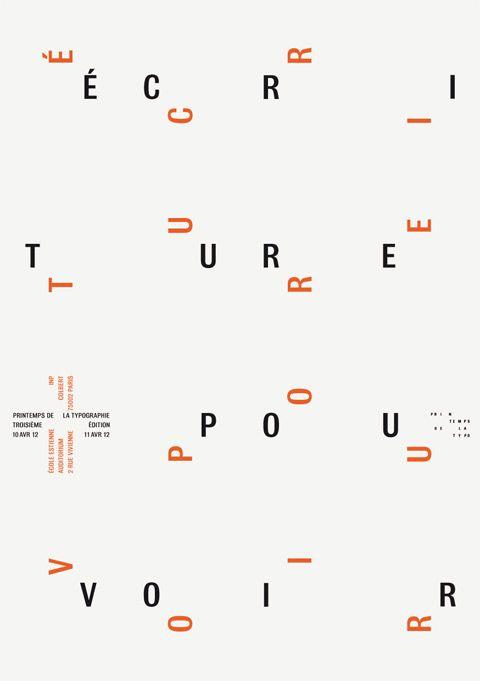 Printemps de la typographie, organisé par l'École Estienne