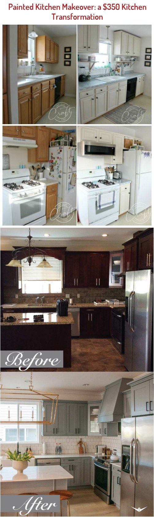 kitchen before and after a Budgetfriendly kitchen