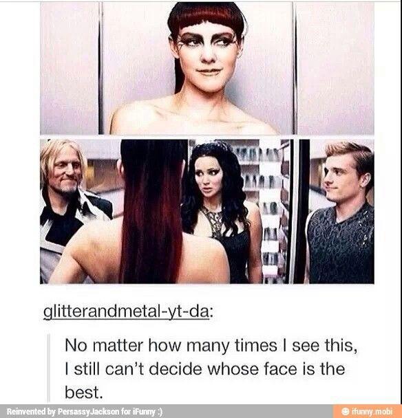 Johanna Masson and Katniss Everdeen
