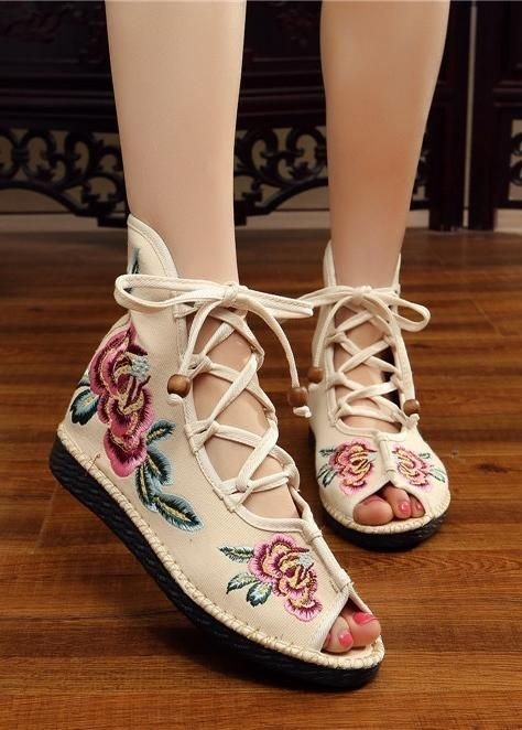 0cb42861d2a Pin by Uoozee on women's shoes   Shoes, Lace up shoes, Embroidered lace