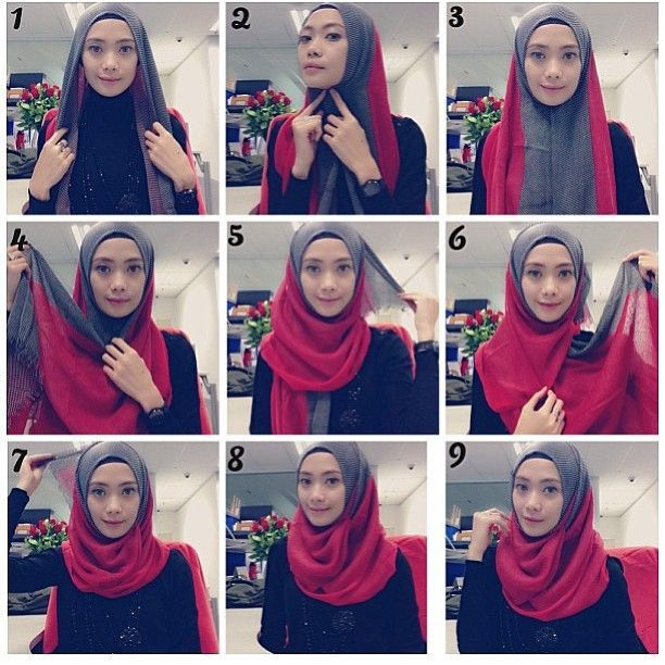Classy Quick Hijab Tutorial – Two Colors
