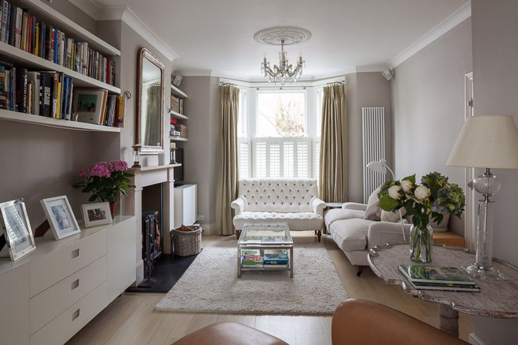 The formal living room in period home in London that we extended and refurbished. Neutral colours tie the room together.