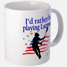 LACROSSE PLAYER Mug Calling all Lacrosse players! Awesome Lacrosse Girl designs on Tees and Gifts. http://www.cafepress.com/sportsstar/13899001 #GirlsLacrosse #Lovelacrosse #Chickswithsticks #LacrosseGirl