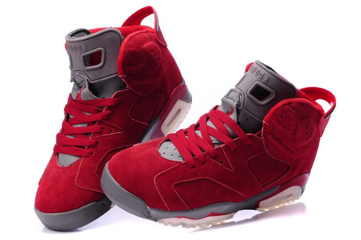 Latest Jordan Shoes | New Mens Jordan Shoes 6 - Red Grey [Air Jordans 6] - $61.00 : Jordans ...