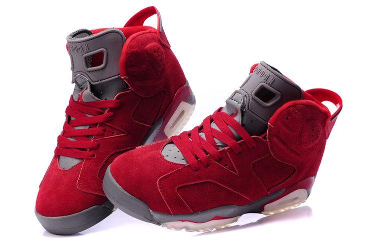 Latest Jordan Shoes | New Mens Jordan Shoes 6 - Red Grey [Air Jordans 6] - $61.00 : Jordans ...