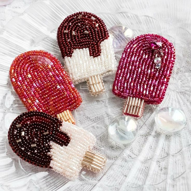 Ice-cream brooches, cool