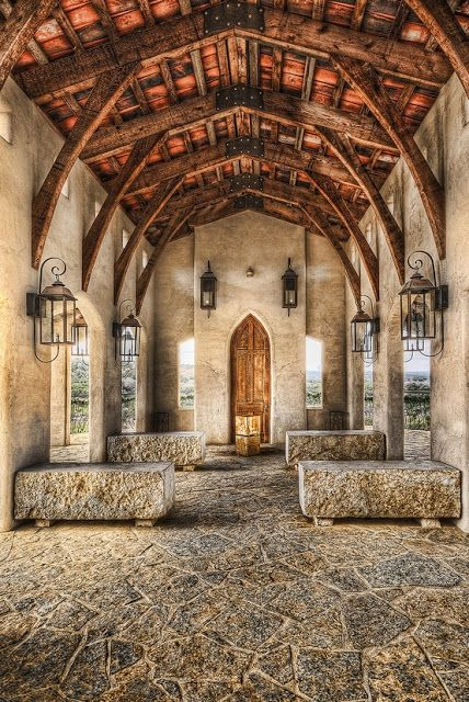 Chapel Dulcinea, near Austin, Texas - open air chapel