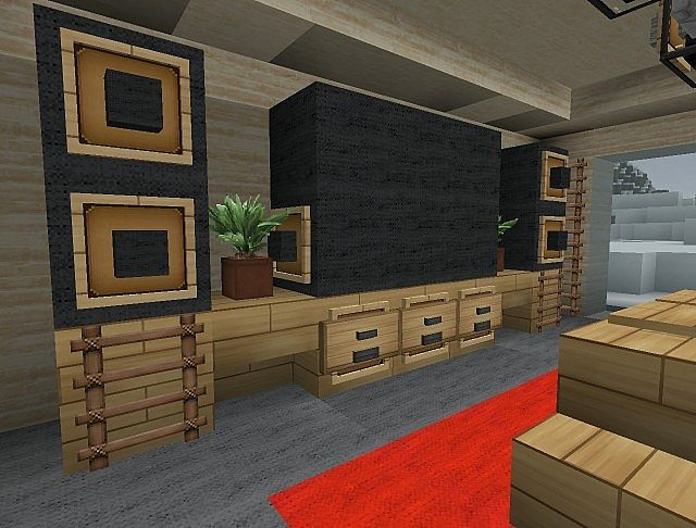 Tv Speaker Counter Minecraft Interior Design New Interior Design Interior Design Concepts