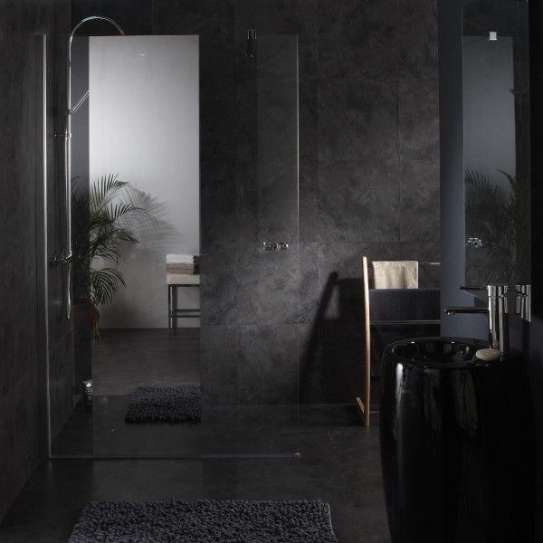 Paroi de douche fixe avec miroir #douche