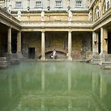 The Roman Baths and Pump Room in Bath, Somerset: The Great Bath, Roman Baths in Bath Somerset
