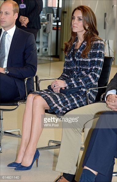 Prince William Duke of Cambridge and Catherine Duchess of Cambridge visit the National Graphene Institute at the University of Manchester during a...