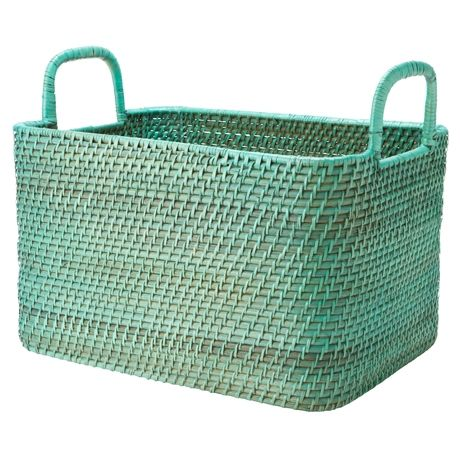 Nito Rectangle Basket with Handle Small