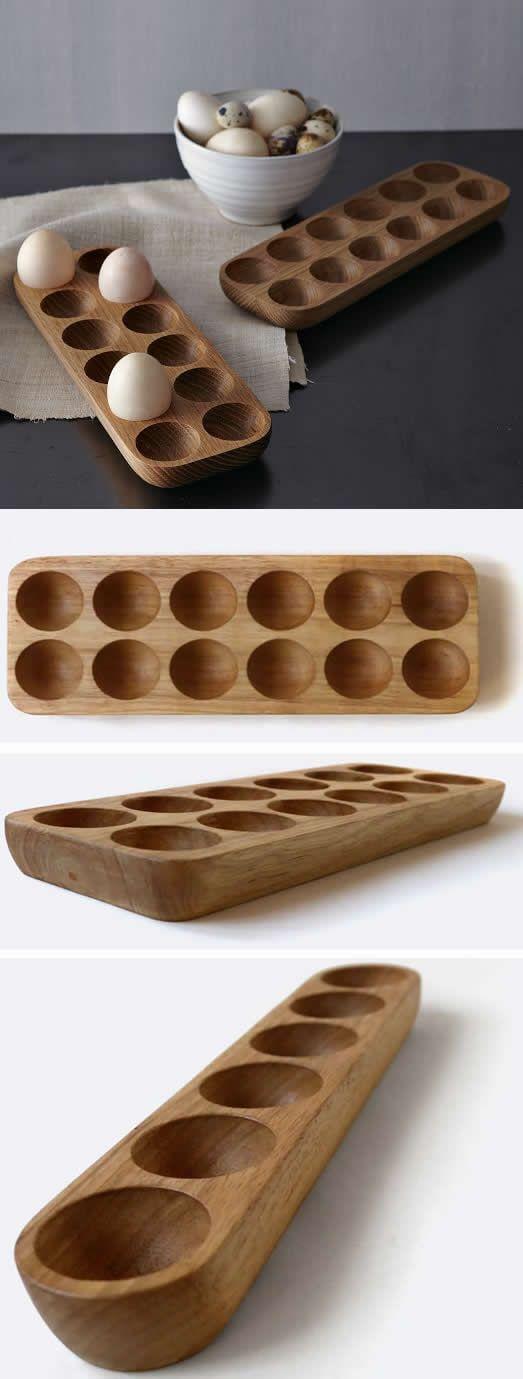 Wooden Egg Holder Crate -12/6 holes
