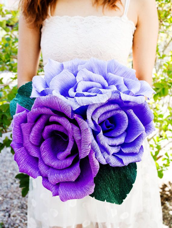 Handmade giant paper flower, paper flower bouquet, wedding bouquet, bridesmaid bouquet,  decoration, Summer, Spring, bridal bouquet