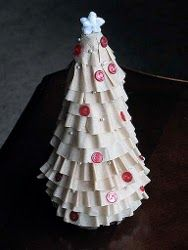 Coffee filter xmas tree: so cute!