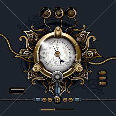 Steampunk concept Royalty Free Stock Vector Art Illustration