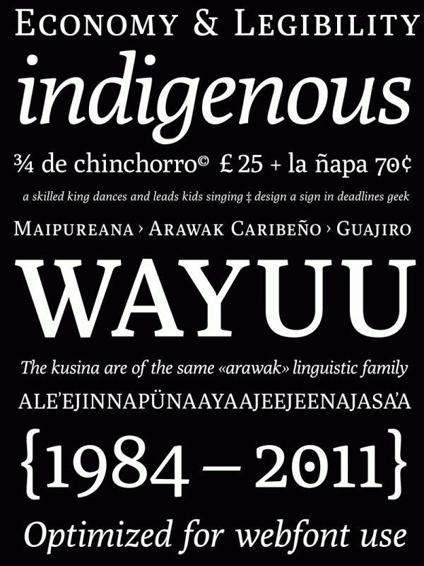 Poly – free web font by José Nicolás Silva Schwarzenberg, via Behance