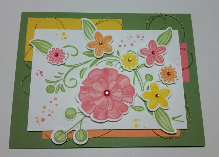 Falling Flowers from Stampin Up.