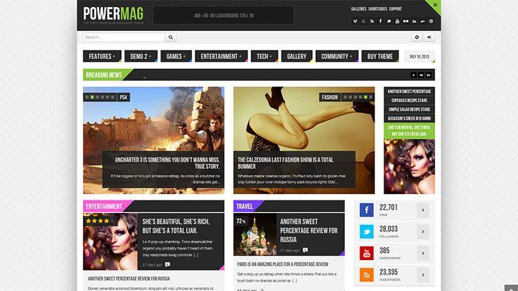 PowerMag - WordPress Magazine Theme - #wordpress #responsive #theme #magazine #creative #inspiration