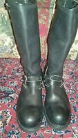 VGUC Bike Boots Black Leather Motorcycle/Work Boots - US Size 11 E (Men)