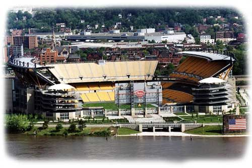 Heinz Field- home of the Pittsburgh Steelers in Pittsburgh, PA. I live and breathe the Steelers and have never experience anything quite like a home Steeler game at Heinz Field!
