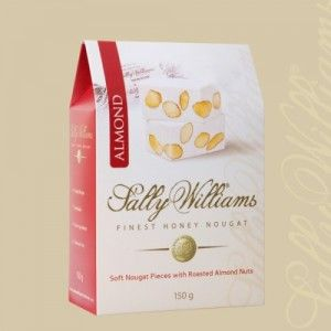 A box of 20 gift bags of Sally Williams Almond Nougat. Gourmet nougat from a true culinary genius.