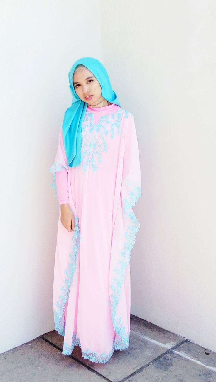 OOTD : EID MUBARAK IN PINK  #kaftan #pink #eidmubarak #hijabstyle #pastelmood