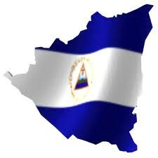 Es la bandera de Nicaragua marcando el territorio de nuestra patria en el norte, sur, este, y oeste.
