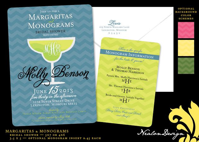 Margaritas & Monograms — Bridal Shower