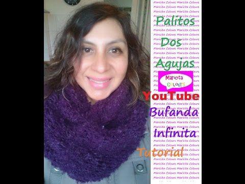 """Dos Agujas Bufanda Infinita """"Trifina"""" /Collar (Parte 2) por Maricita Colours - YouTube"""