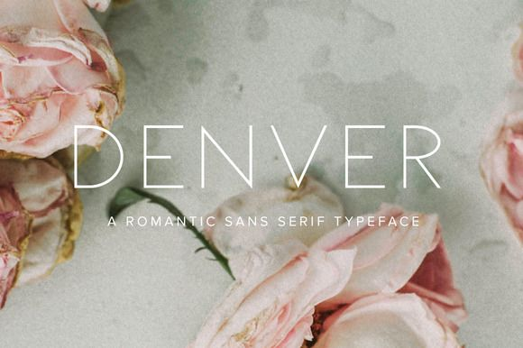 Denver | Multi-Weight Font Family by Jen Wagner Co on @creativemarket